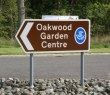 Oakwood Garden Centre sign