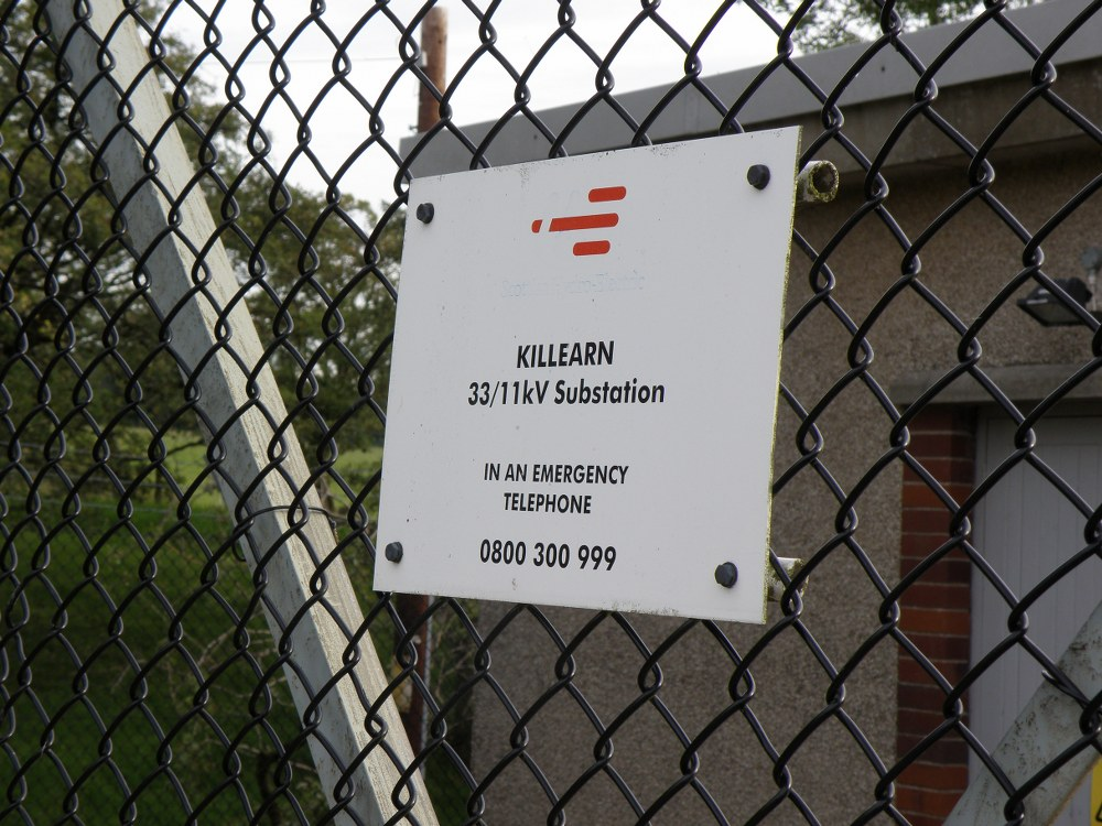 Killearn substation sign
