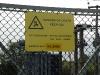 Killearn substation warning sign
