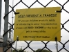 Killearn substation warning sign