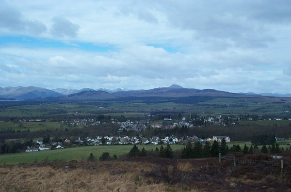 View of Killearn from Campsie Fells