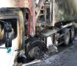 Refuse truck, Killearn Main Street