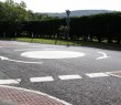 Mini roundabout on Main Street