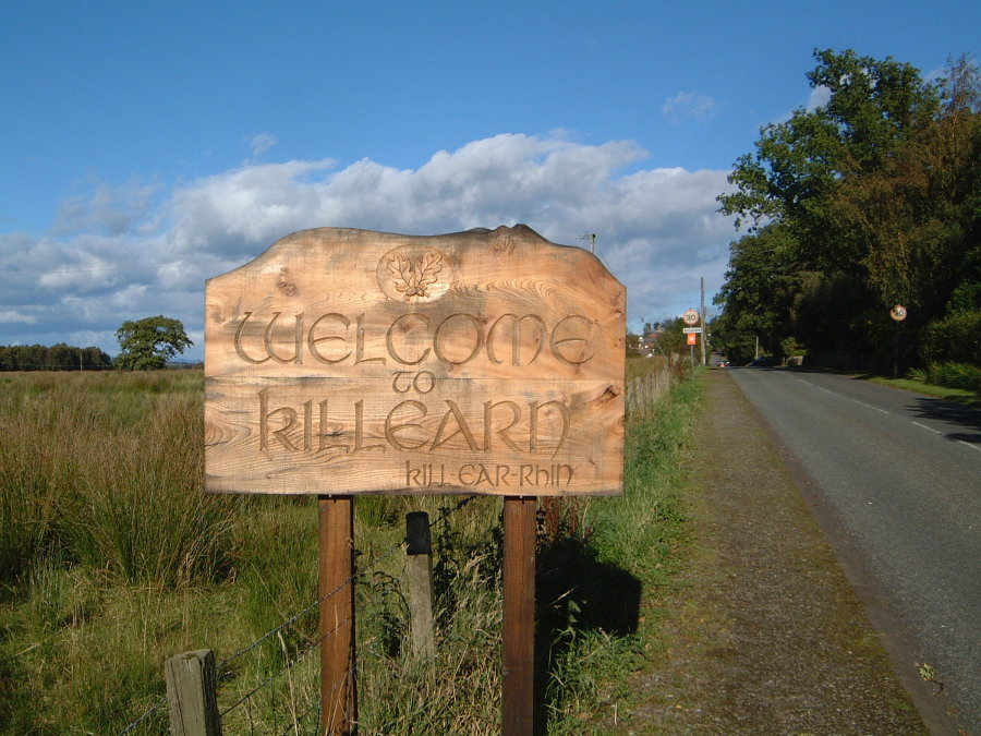 Killearn sign on Station Road