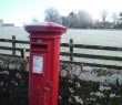 Post box on Station Road