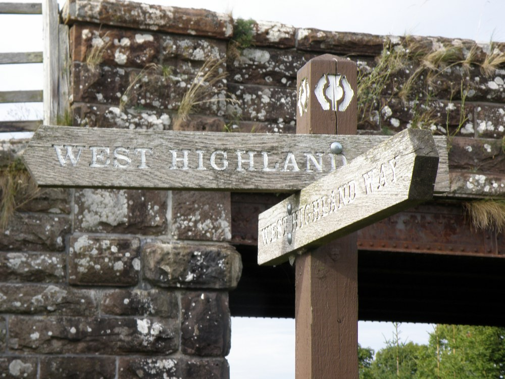West Highland Way sign