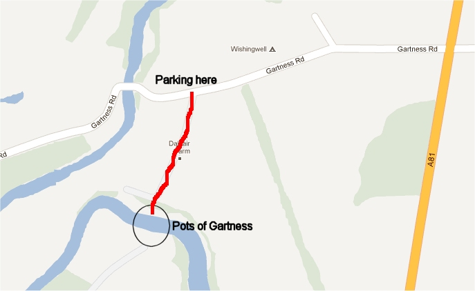 Pots of Gartness location map