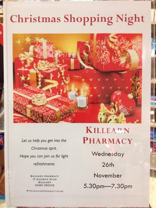 Killearn Pharmacy Christmas Shopping Night